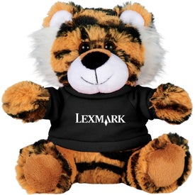 "6"" Tiger Plush Animal with Shirt"