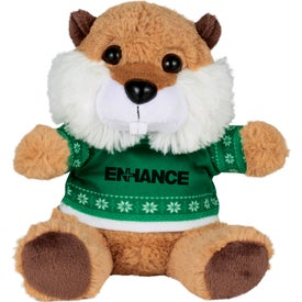 "6"" Ugly Christmas Sweater Beaver"