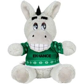 """6"""" Ugly Christmas Sweater Donkey"""