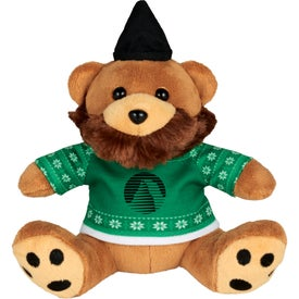 """6"""" Ugly Christmas Sweater Hipster Bear"""