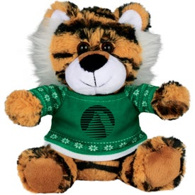 """6"""" Ugly Christmas Sweater Tiger"""