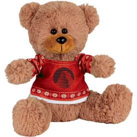 "8"" Ugly Christmas Sweater Sitting Bear"