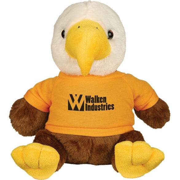 Brown Eagle with Athletic Gold Shirt Liberty Eagle Plush