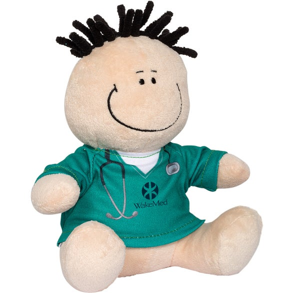 Natural / Teal MopTopper Doctor or Nurse Plush Toy