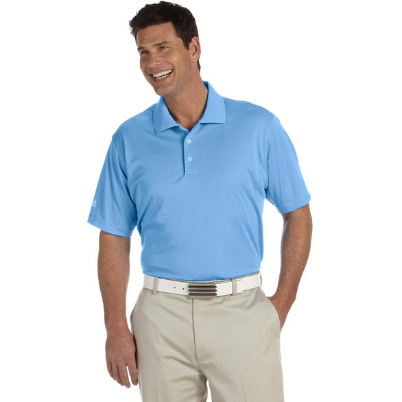 Light Blue Adidas Golf Climalite Basic Short-Sleeve Polo Shirt