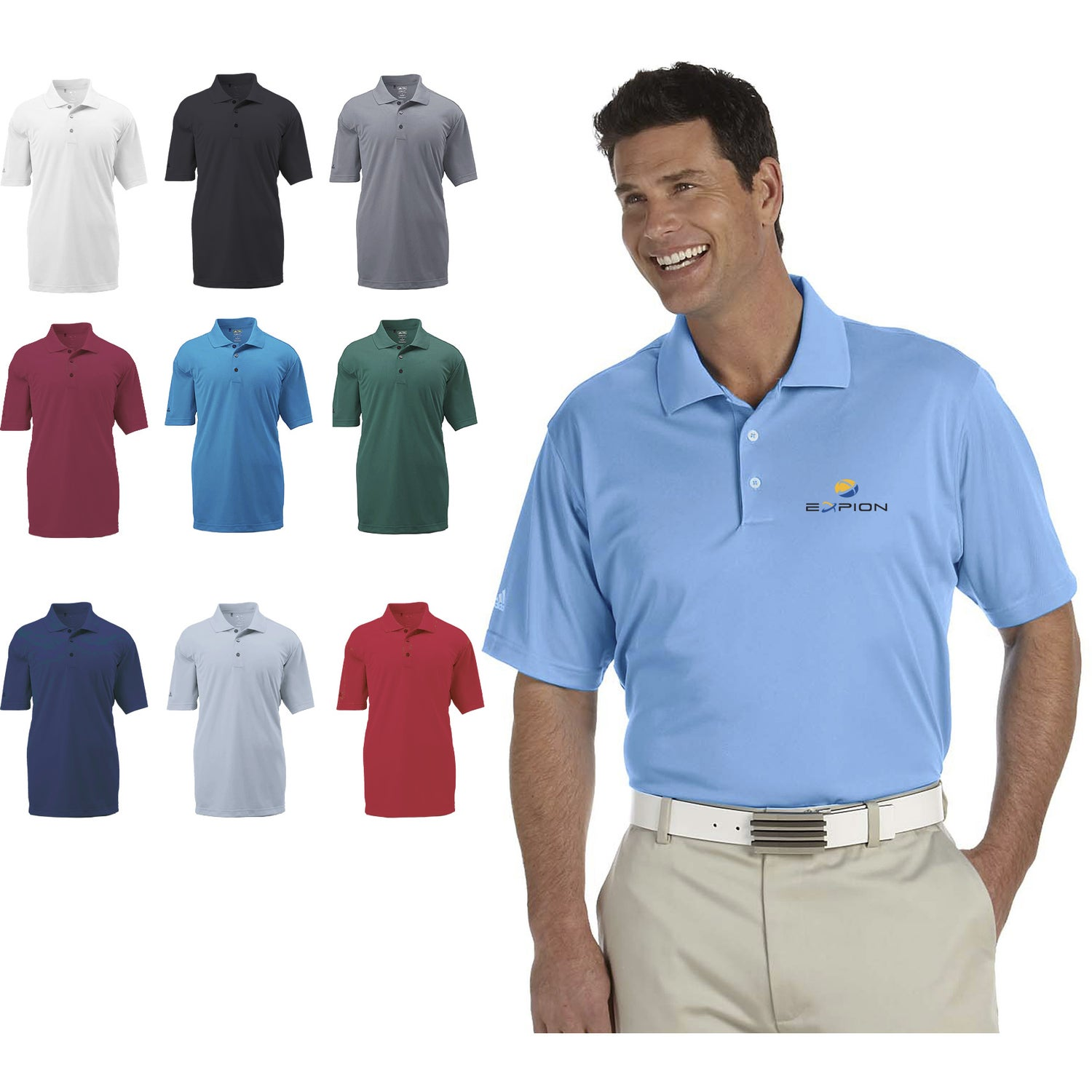 Promotional Mens Adidas Golf Climalite Basic Short Sleeve Polo