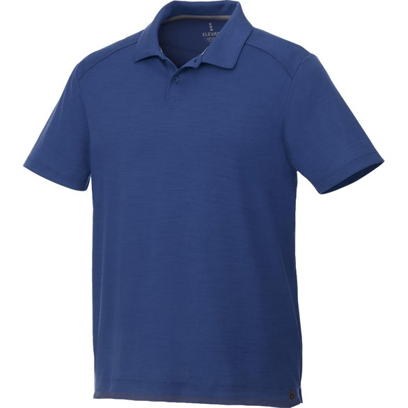 Metro Blue Amos Eco Short Sleeve Polo Shirt by TRIMARK