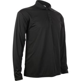 Printed Brecon Long Sleeve Polo Shirt by TRIMARK