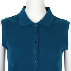 Custom Brins Sleeveless Polo Shirt by TRIMARK