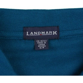 Logo Brins Sleeveless Polo Shirt by TRIMARK