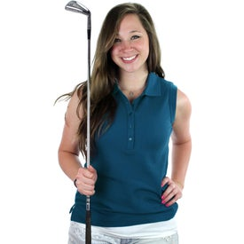 Promotional Brins Sleeveless Polo Shirt by TRIMARK