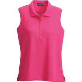 Customized Brins Sleeveless Polo Shirt by TRIMARK
