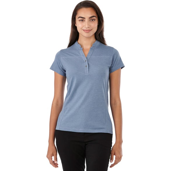Steel Blue Heather Concord Short Sleeve Polo by TRIMARK