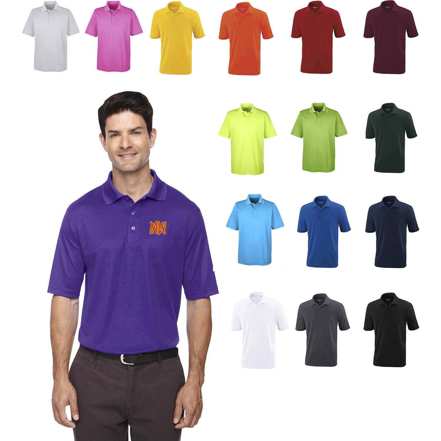 Promotional Mens Core 365 Origin Performance Pique Polo Shirts With