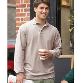 Branded Cotton Deluxe Long Sleeve Polo