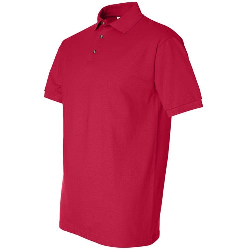 Promotional anvil cotton deluxe pique sport shirts with for Cotton polo shirts with logo