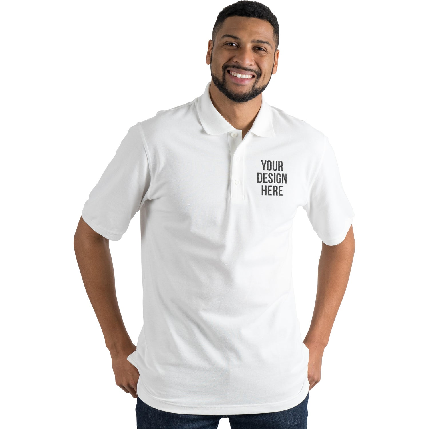 Promotional Mens Crandall Short Sleeve Polo Shirt By Trimarks With