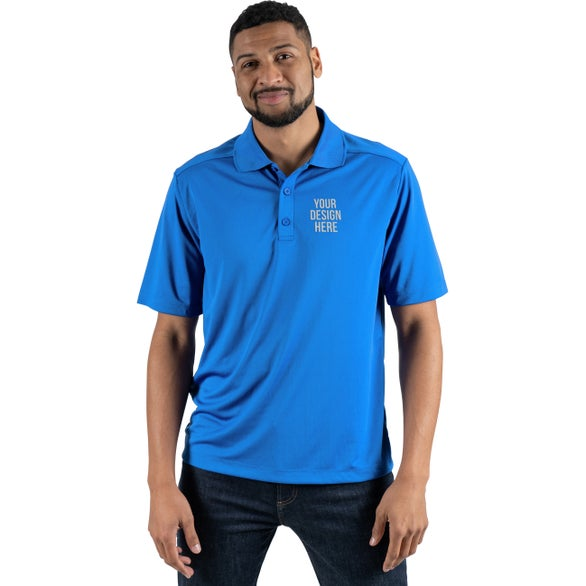 Olympic Blue Dade Short Sleeve Polo Shirt by TRIMARK