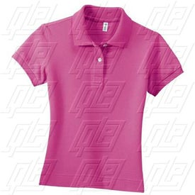 District Threads Ladies Stretch Pique Sport Shirt