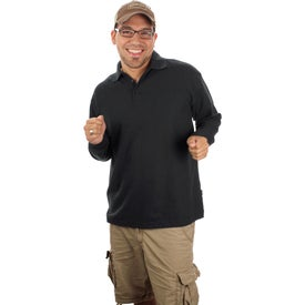 Printed Donner Long Sleeve Polo Shirt by TRIMARK
