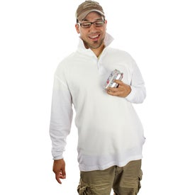 Branded Donner Long Sleeve Polo Shirt by TRIMARK