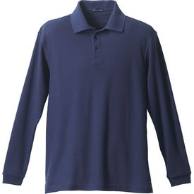 Donner Long Sleeve Polo Shirt by TRIMARK Imprinted with Your Logo