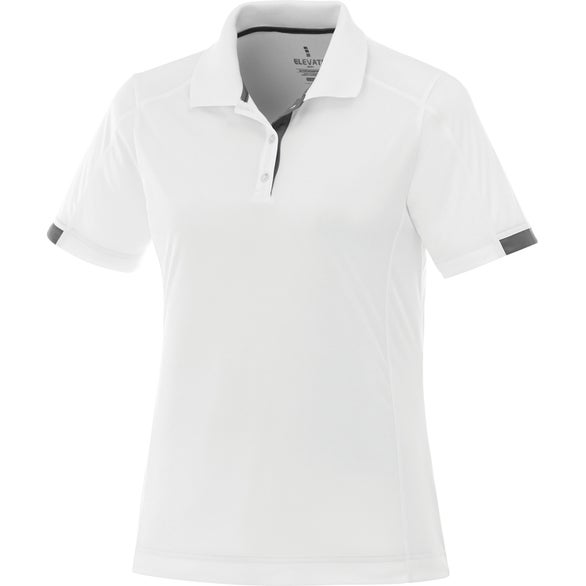 White / Steel Gray Kiso Short Sleeve Polo Shirt by TRIMARK
