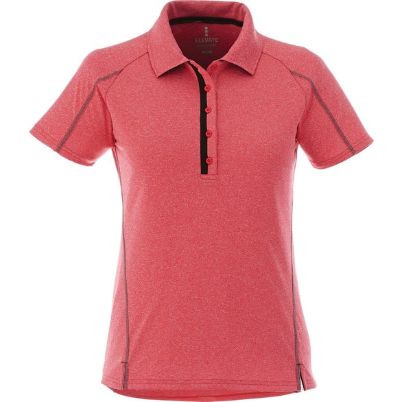 Team Red Heather Macta Short Sleeve Polo Shirt by TRIMARK