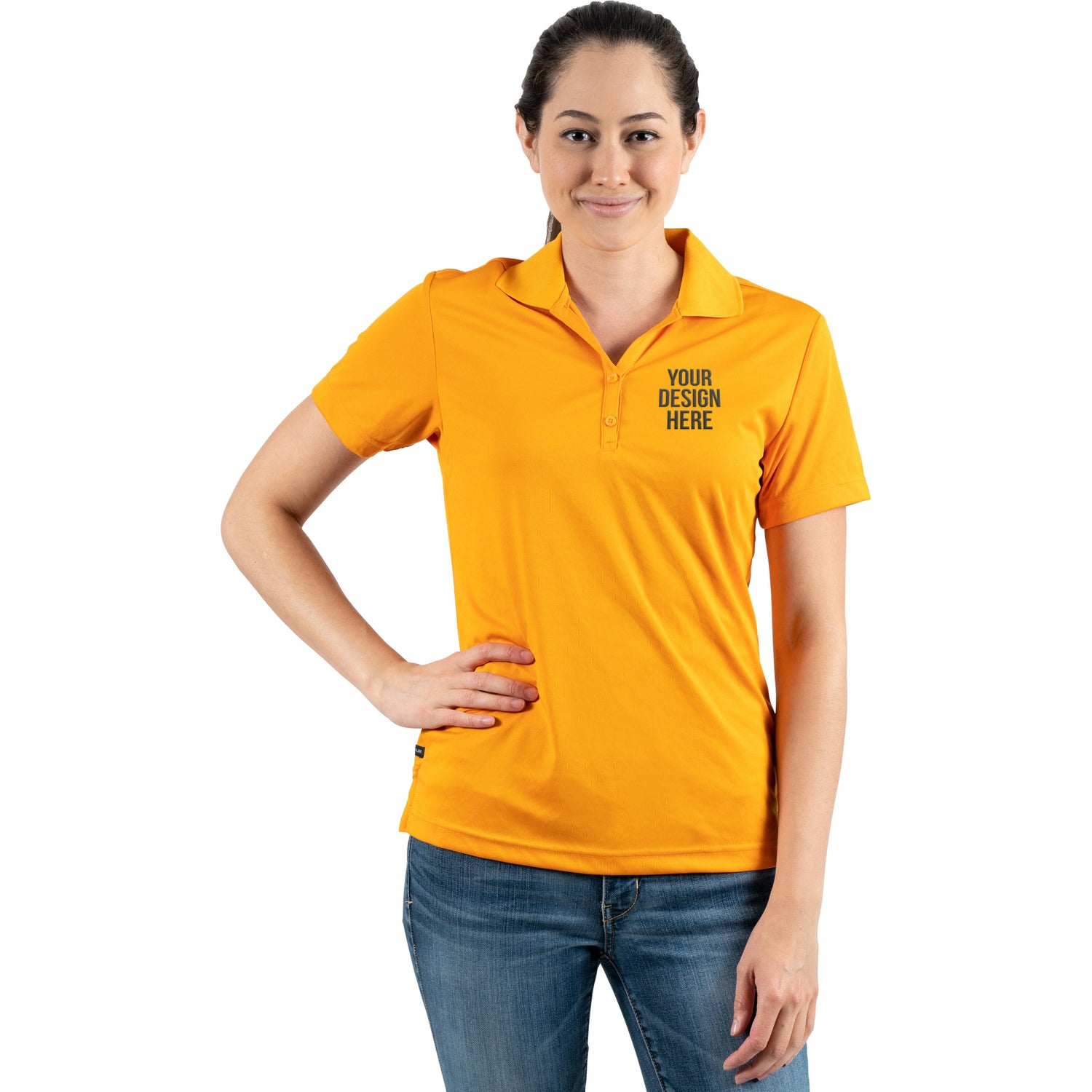 Promotional Womens Moreno Short Sleeve Polo Shirt By Trimarks With