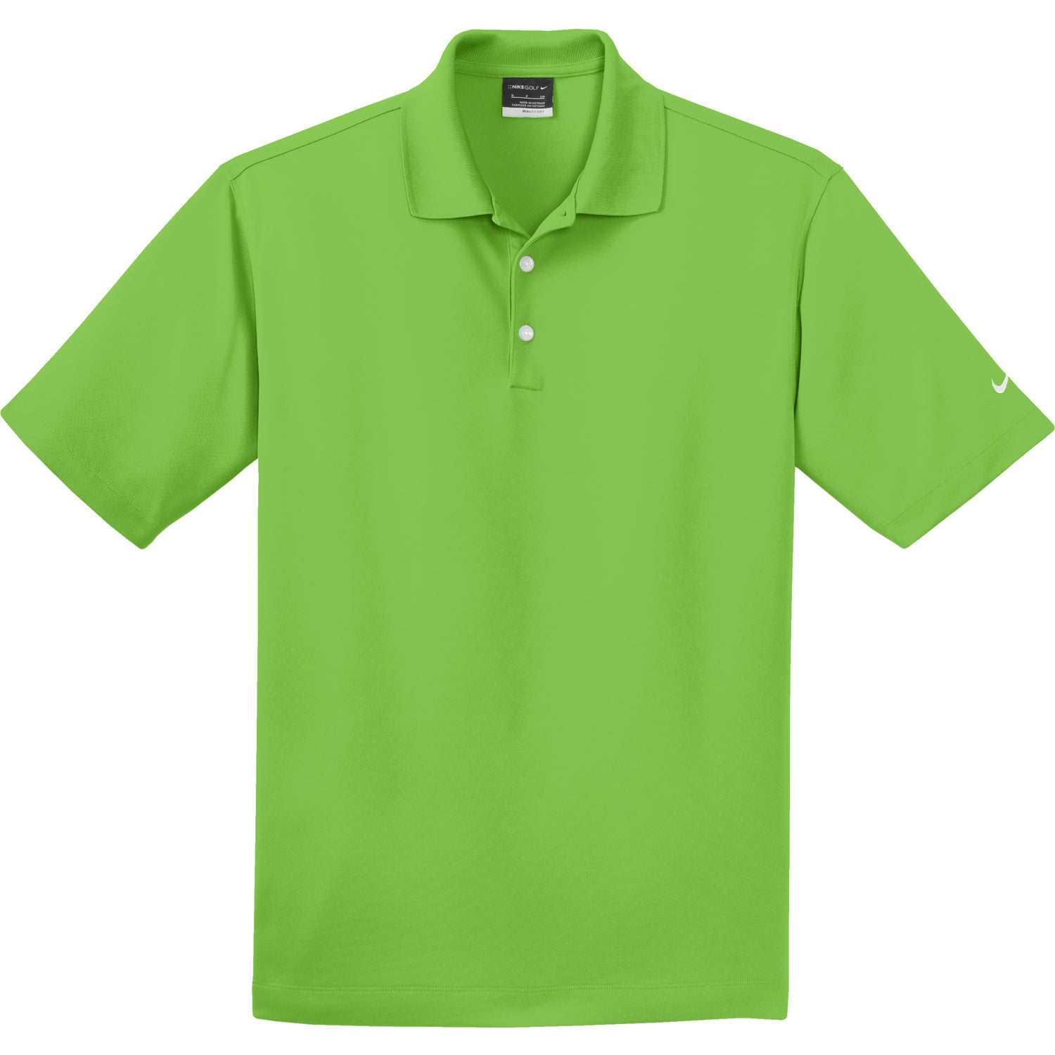 Nike golf dri fit micro pique polo shirt embroidered for Quality polo shirts with company logo