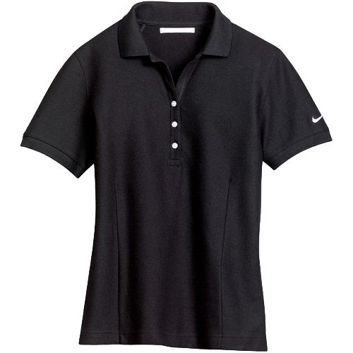 Nike golf ladies pique knit sport shirt embroidered polo for Embroidered nike golf shirts
