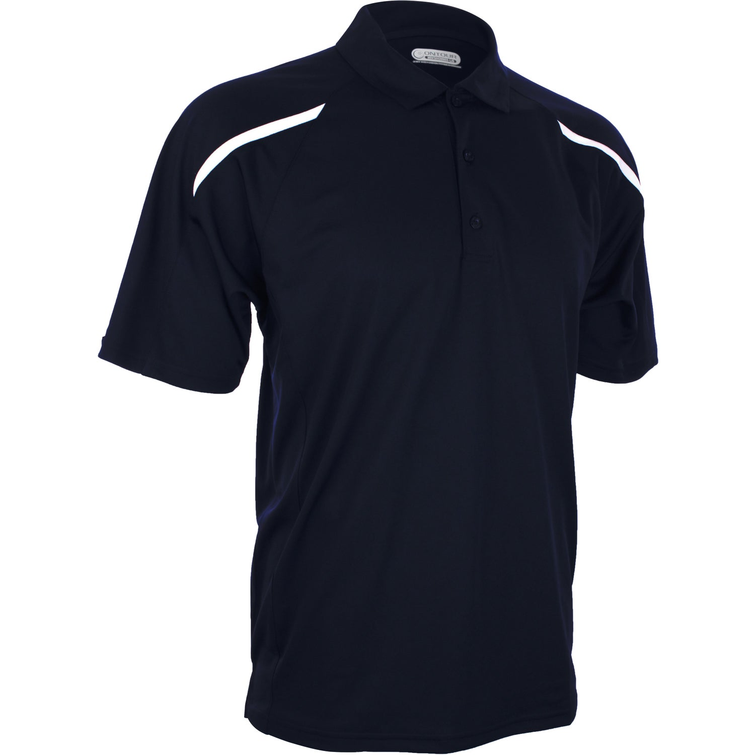 Nyos short sleeve polo shirt by trimark men 39 s for Quality polo shirts with company logo