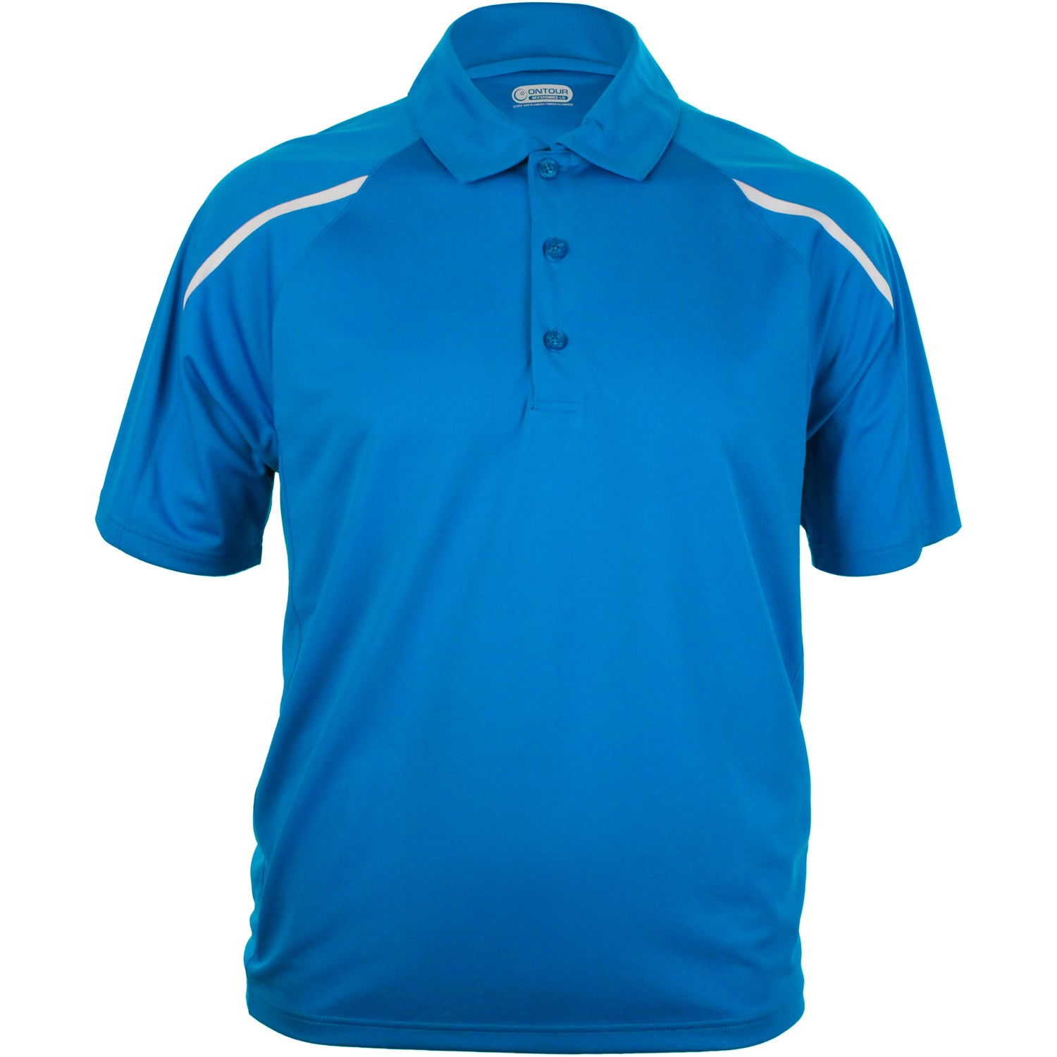 Nyos short sleeve polo shirt by trimark men 39 s for Polo shirts with embroidery