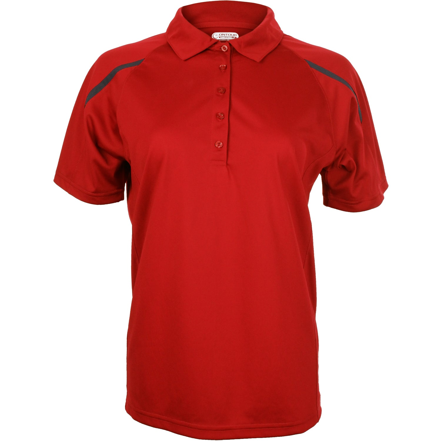 Promotional women 39 s nyos short sleeve polo shirt by for Custom embroidered polo shirts no minimum order