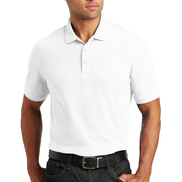 White Port Authority Core Classic Pique Polo Shirt