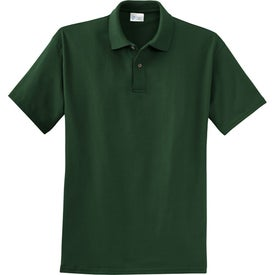 Monogrammed Port and Company 6.1-Ounce Jersey Knit Sport Shirt