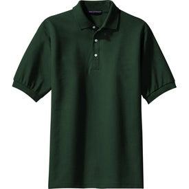Logo Port Authority 100% Pima Cotton Sport Shirt