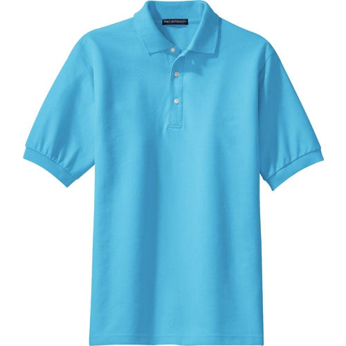 Promotional port authority 100 pima cotton sport shirts for Cotton polo shirts with logo
