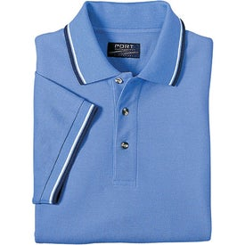 Company Cool Mesh Sport Shirt with Tipping Stripe Trim