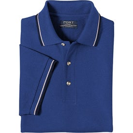 Logo Cool Mesh Sport Shirt with Tipping Stripe Trim