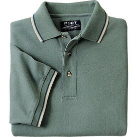 Cool Mesh Sport Shirt with Tipping Stripe Trim with Your Logo