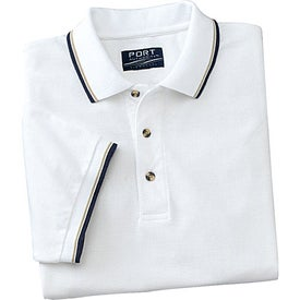 Customized Cool Mesh Sport Shirt with Tipping Stripe Trim