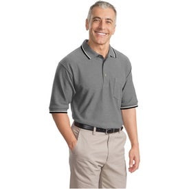 Cool Mesh Sport Shirt with Tipping Stripe Trim for Promotion