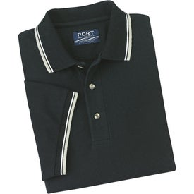 Cool Mesh Sport Shirt with Tipping Stripe Trim