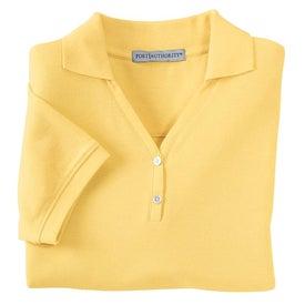 Imprinted Port Authority Ladies 100% Pima Cotton Sport Shirt