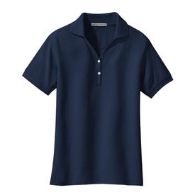 Port Authority Ladies 100% Pima Cotton Sport Shirt Printed with Your Logo