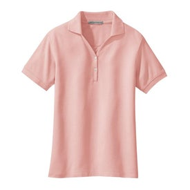 Printed Port Authority Ladies 100% Pima Cotton Sport Shirt
