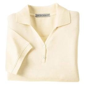 Logo Port Authority Ladies 100% Pima Cotton Sport Shirt