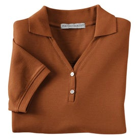 Custom Port Authority Ladies 100% Pima Cotton Sport Shirt