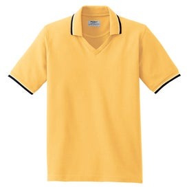 Printed Port Authority Ladies Cool Mesh Sport Shirt w/ Trim